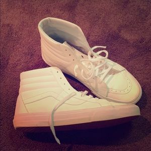 Size 10.5 White High Top Vans